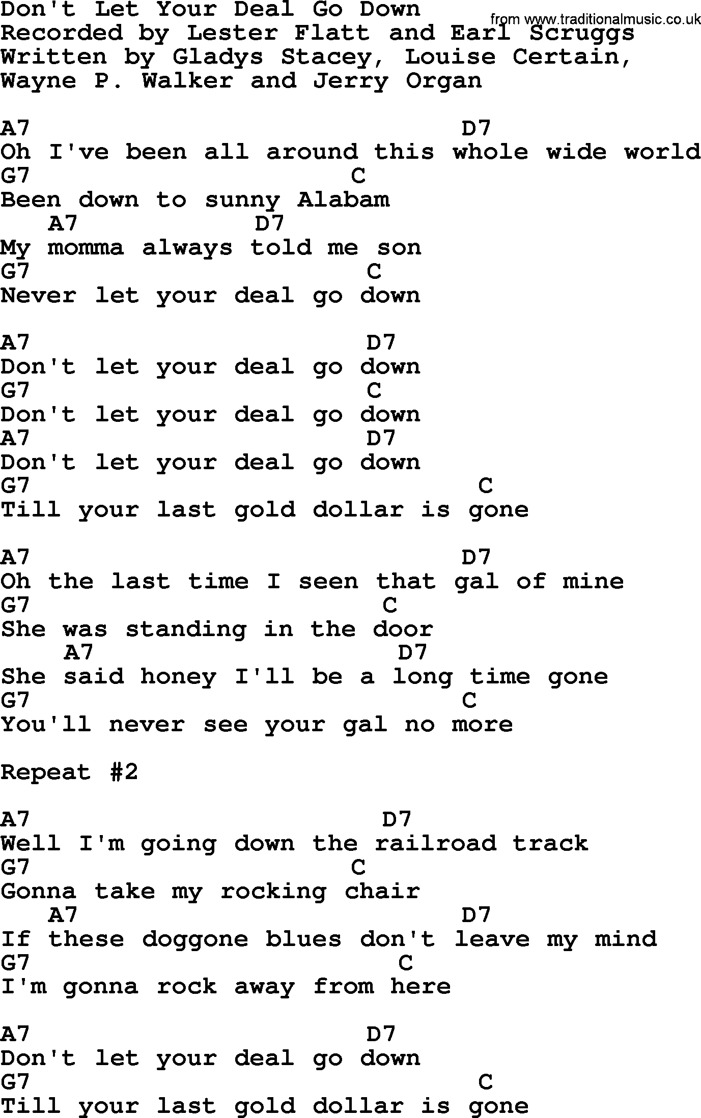Dont let your deal go down bluegrass lyrics with chords bluegrass song dont let your deal go down lyrics and chords hexwebz Gallery