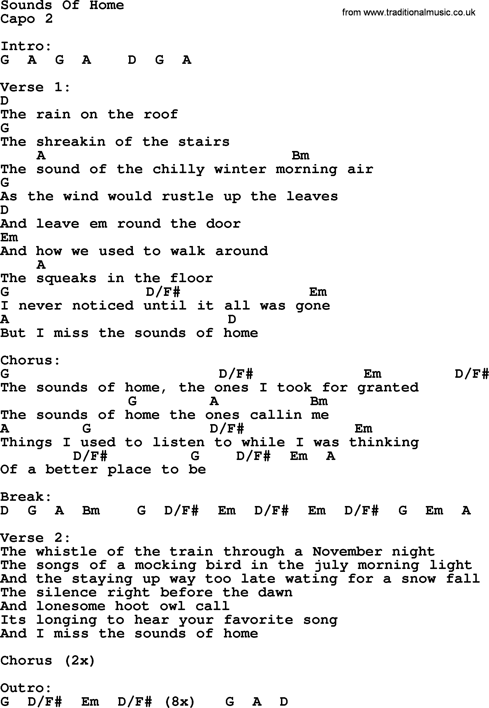 how sweet the sound chords pdf