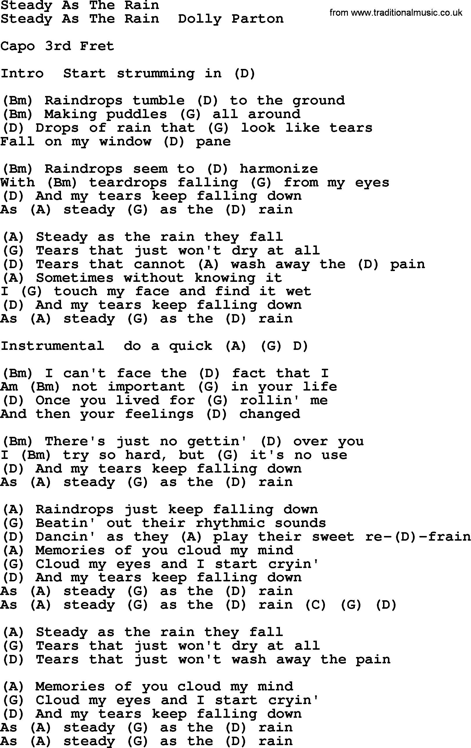 the rain song tab pdf