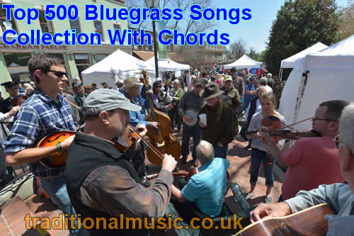 Bluegrass Top 500 Songs Collection - with lyrics, chords and PDF ...