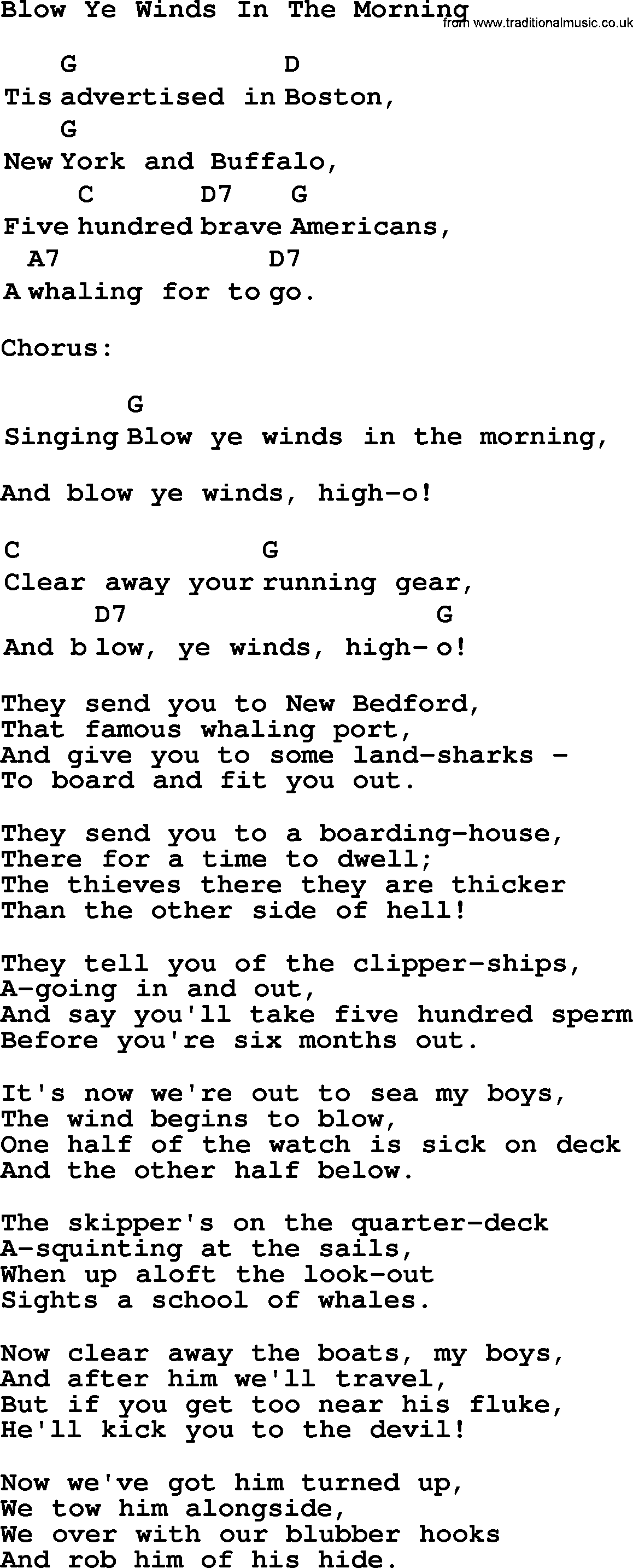 blowing in the wind lyrics