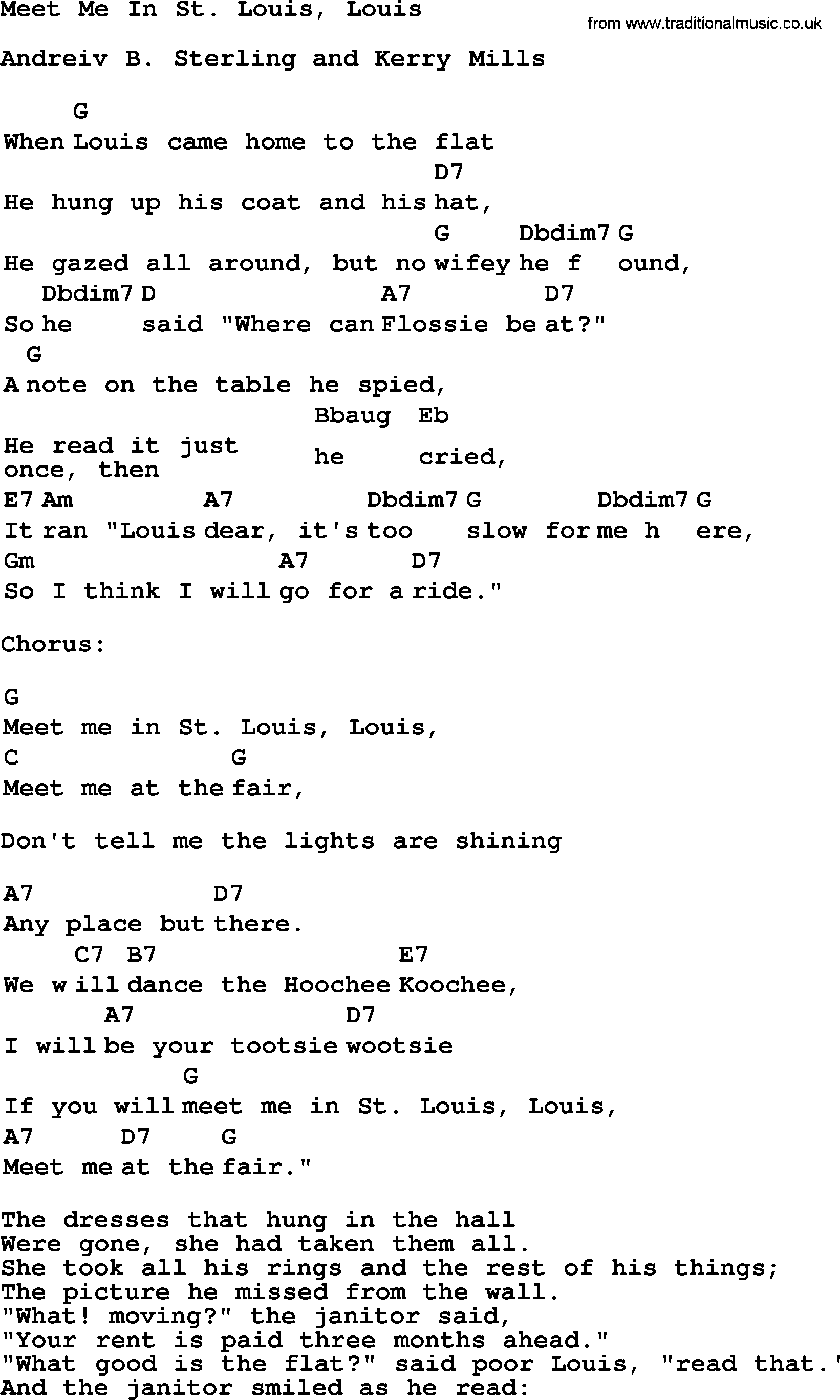 Meet me in st louis songs lyrics