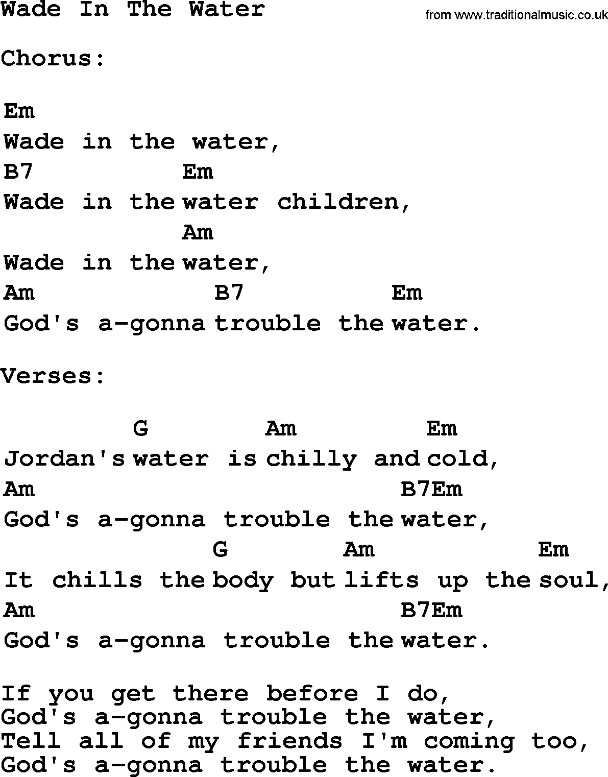 Wade the water and movie