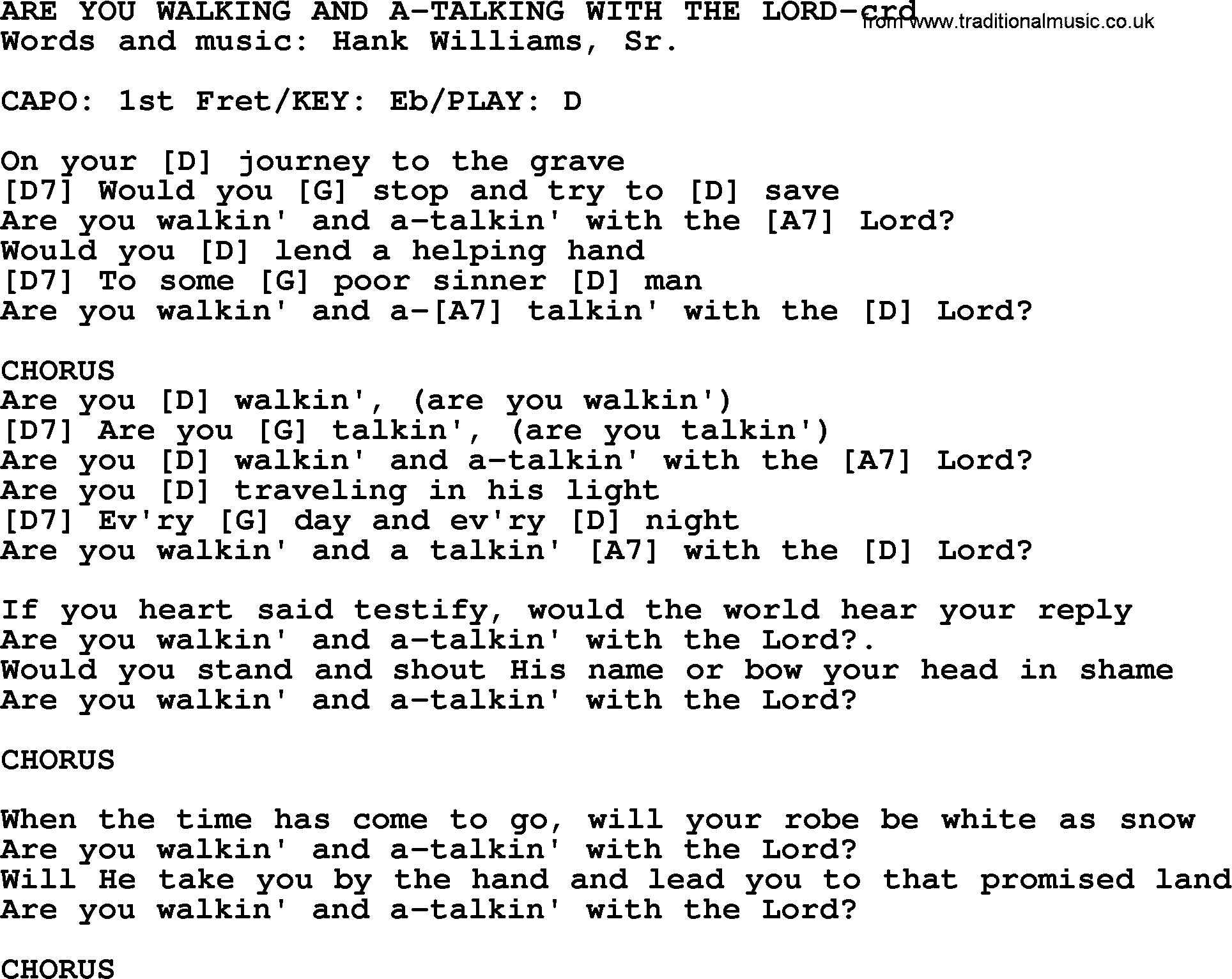 promised land chords