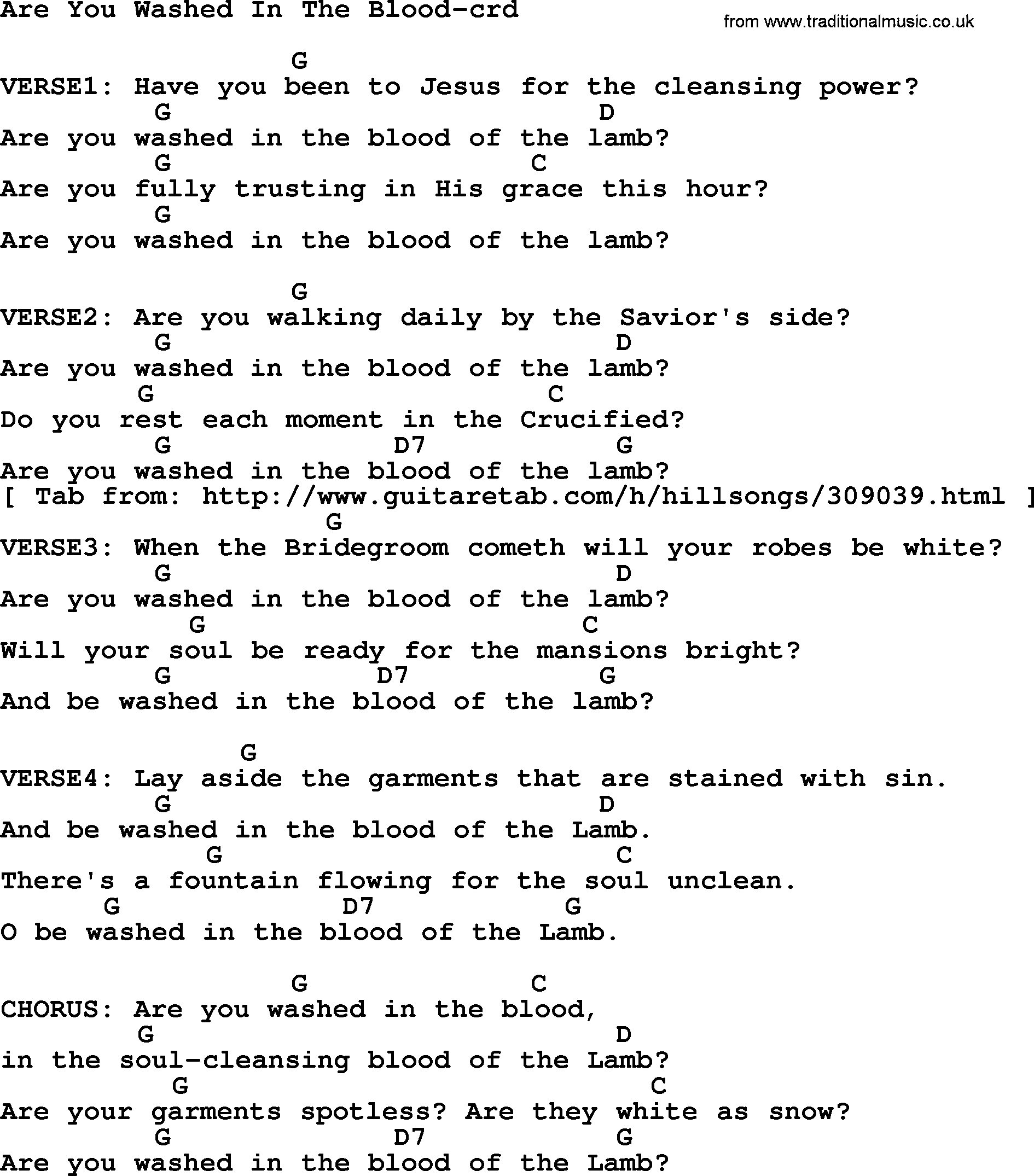 Top 500 hymn are you washed in the blood lyrics chords and pdf top 500 hymn are you washed in the blood lyrics and chords hexwebz Image collections