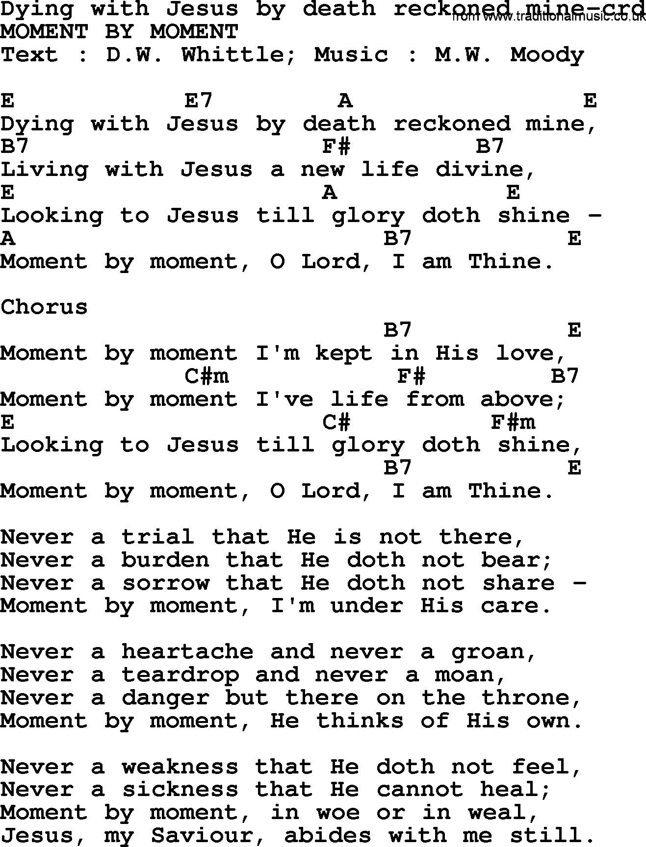 Top 500 hymn dying with jesus by death reckoned mine lyrics top 500 hymn dying with jesus by death reckoned mine lyrics and chords hexwebz Image collections