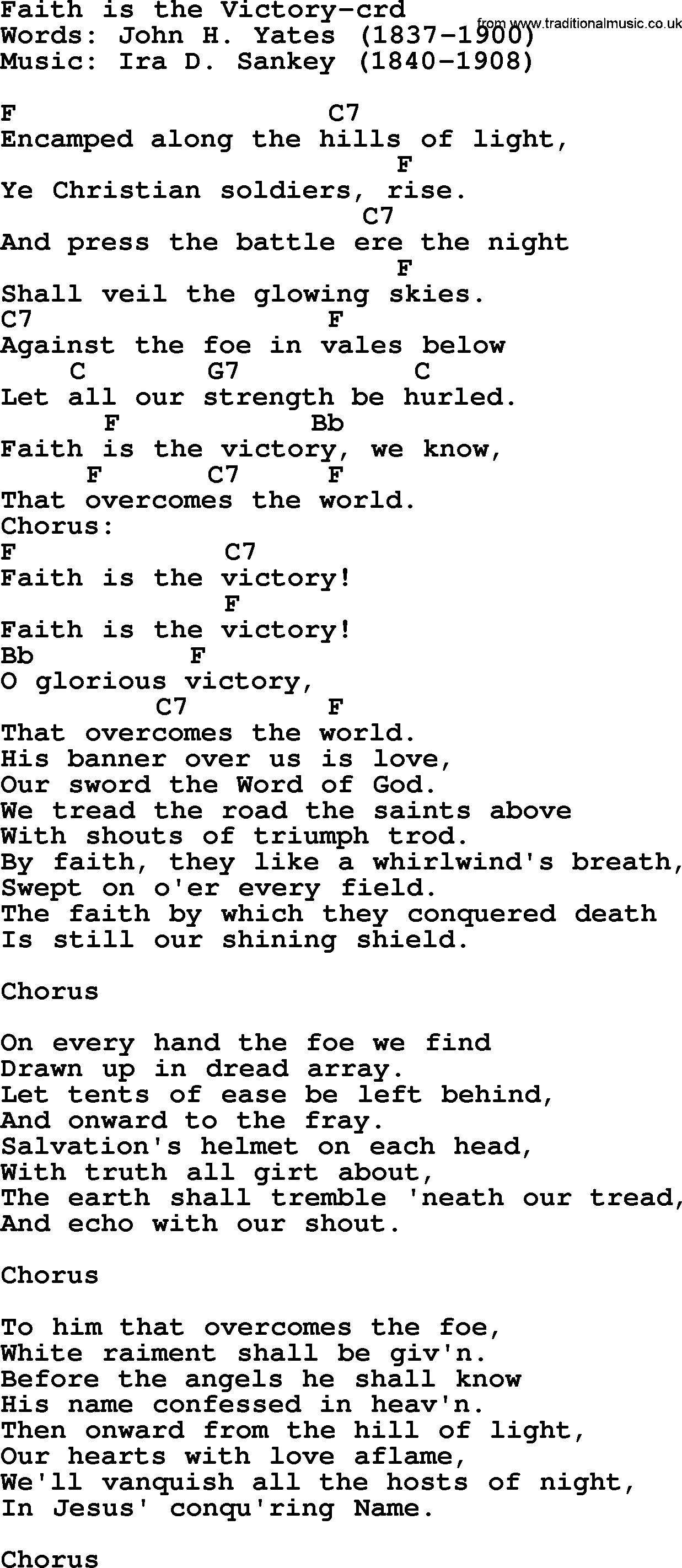 Christian victory songs list