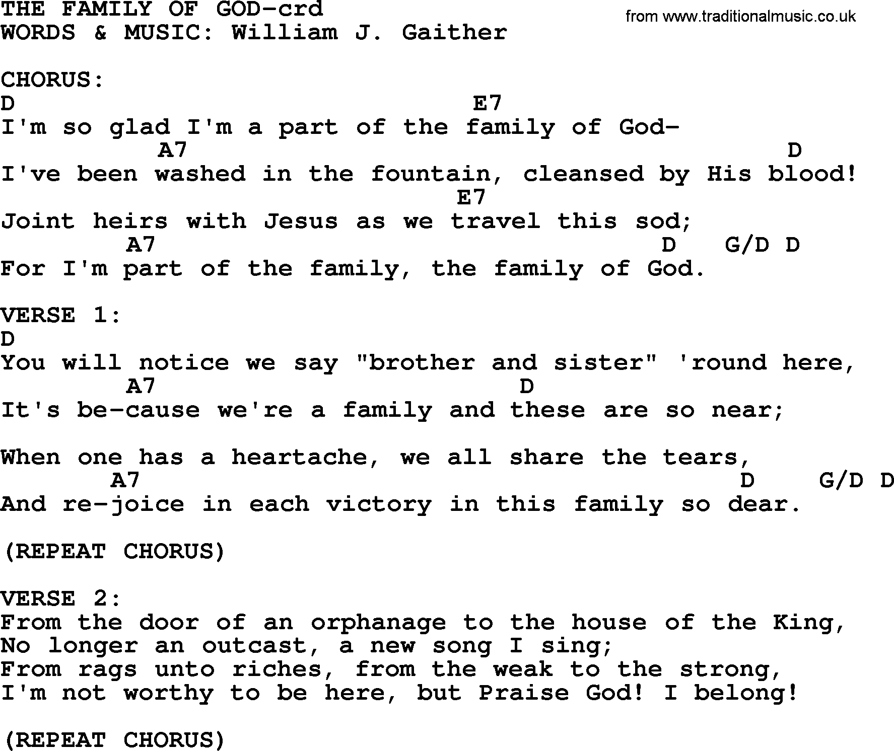 The family of god lyrics for Bedroom hymns lyrics