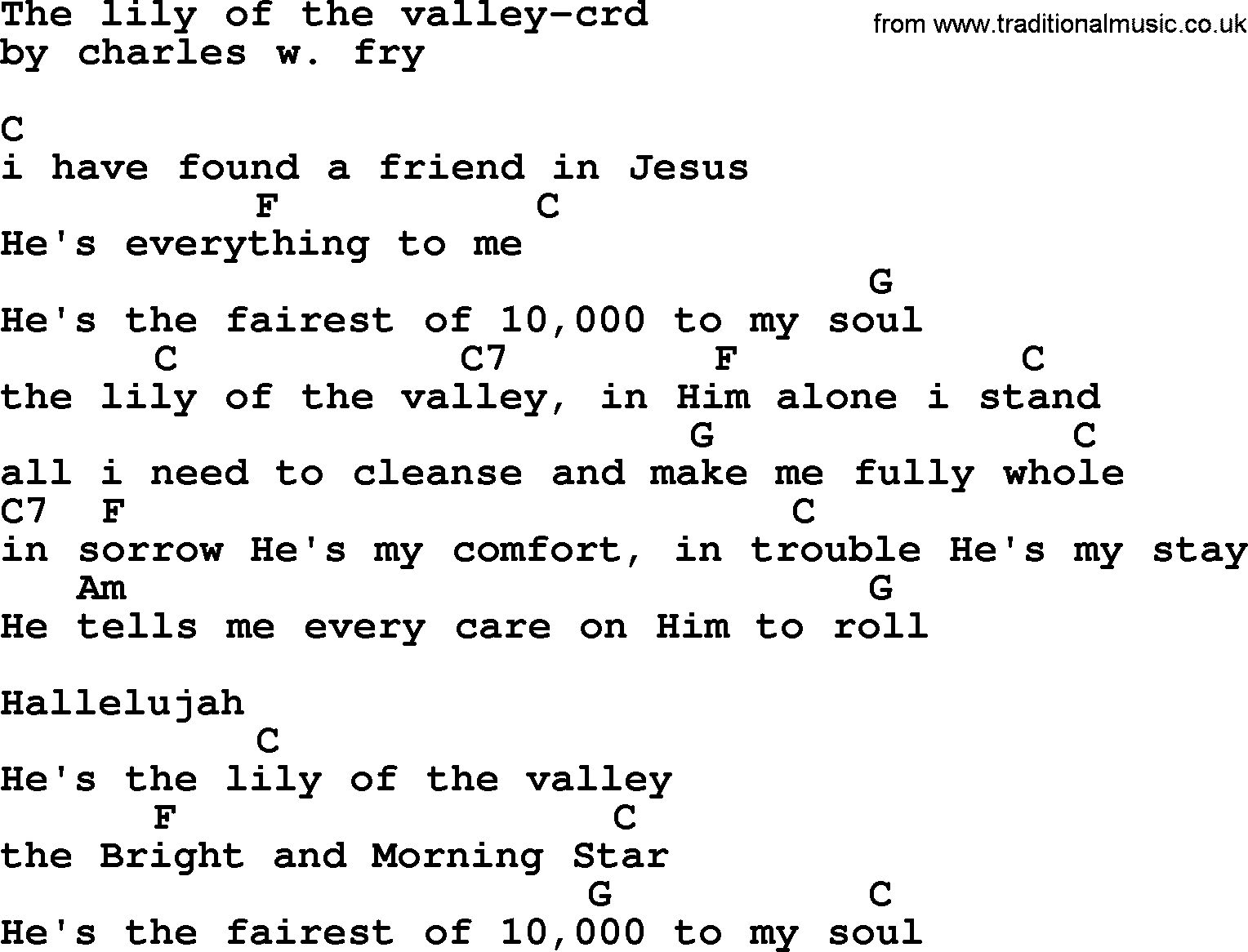 Lily Of The Valley Lyrics Pictures Of Lily Lyrics
