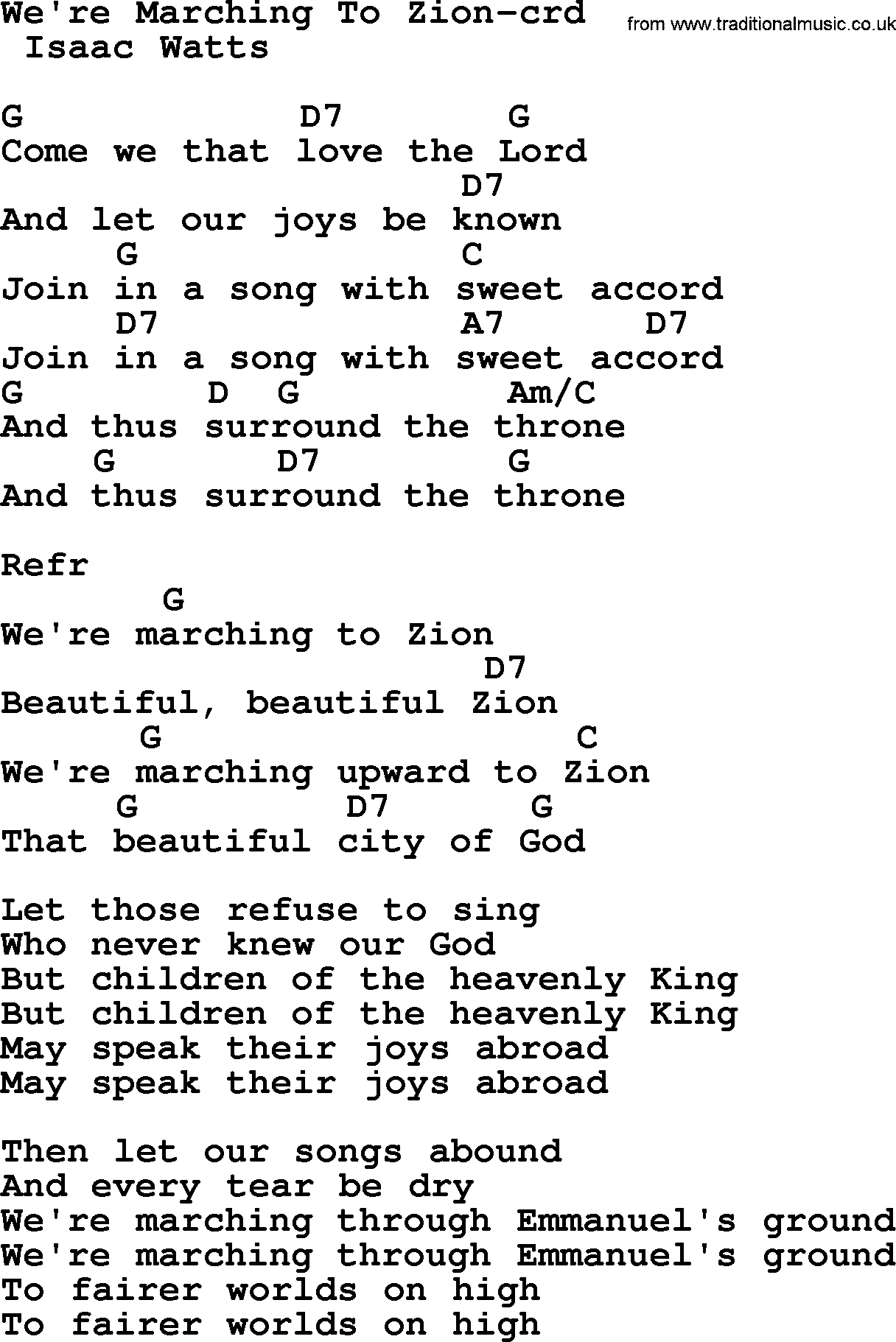 Top 500 hymn were marching to zion lyrics chords and pdf top 500 hymn were marching to zion lyrics and chords hexwebz Images