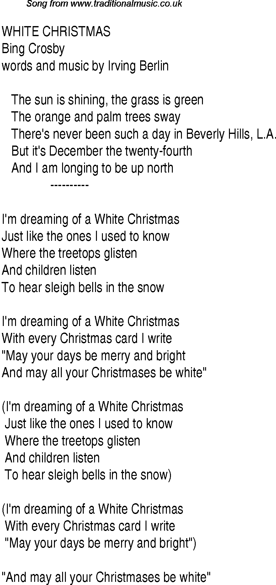 top songs 1948 music charts lyrics for white christmas