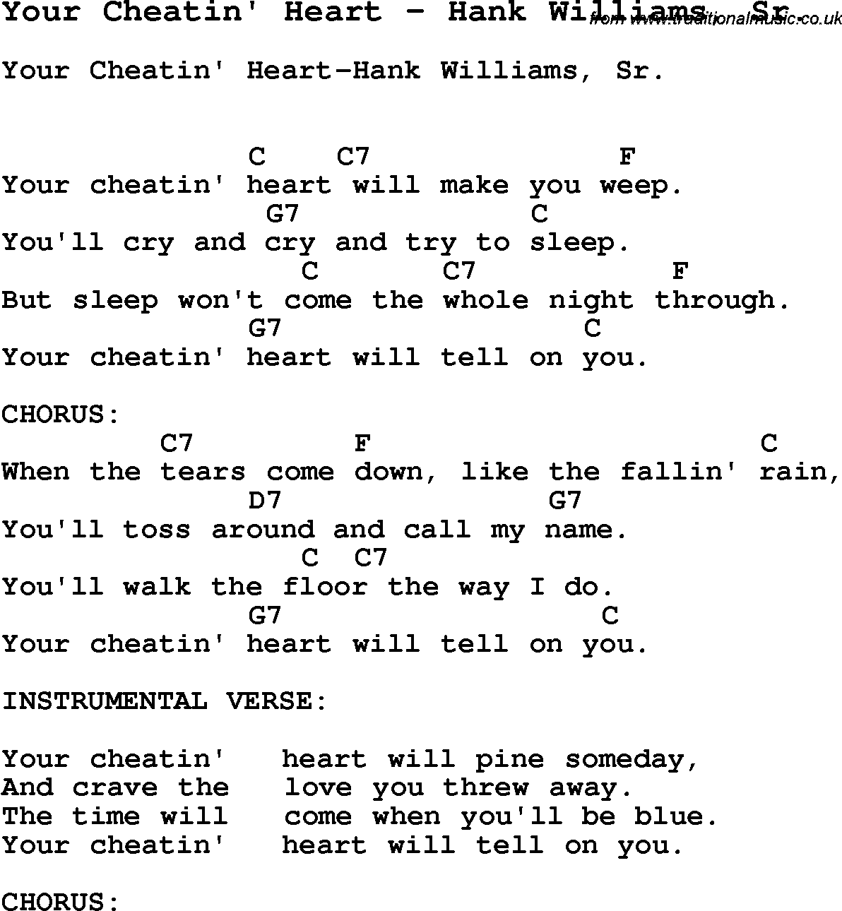 Your Cheatin' Heart - Wikipedia