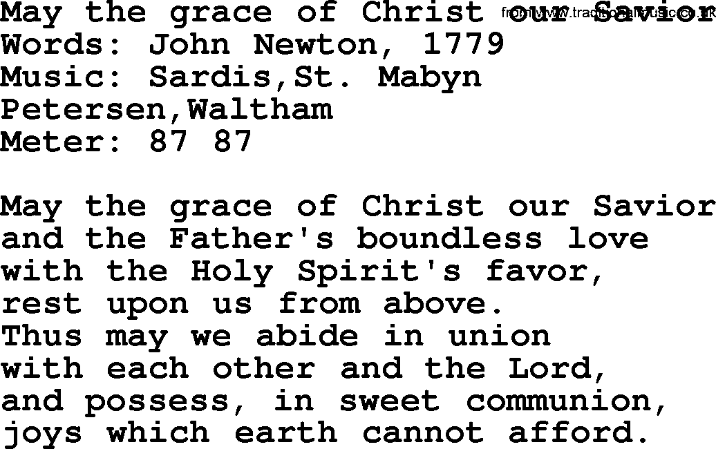 Wedding Hymns And Songs May The Grace Of Christ Our Saviortxt