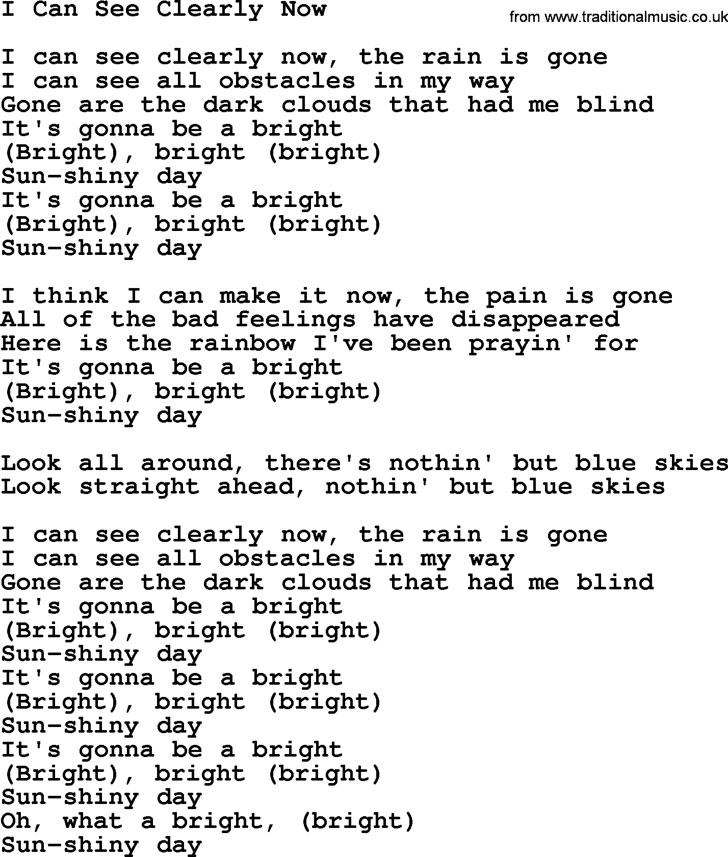 Rain Is Now The Lyrics Can Gone See I