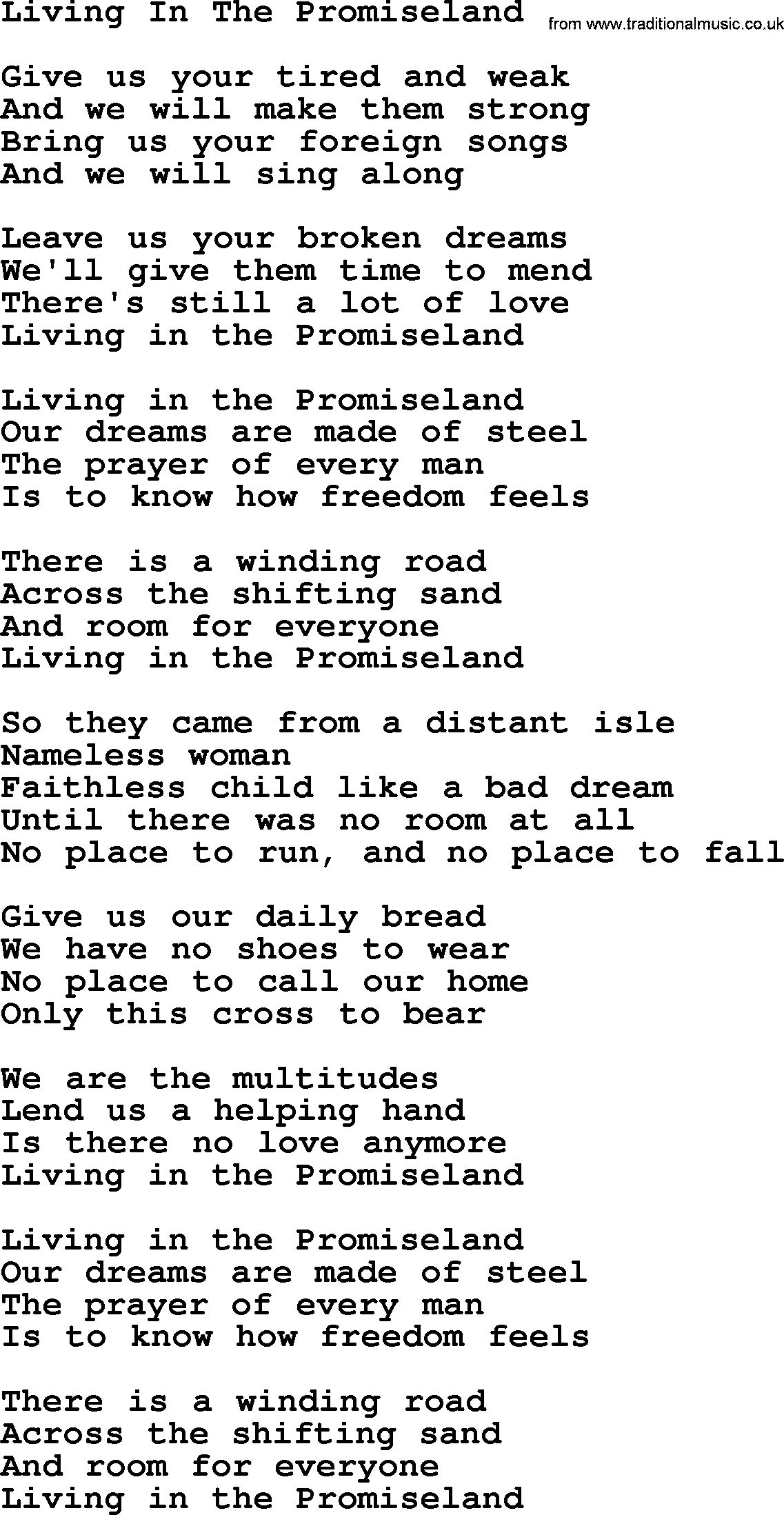 Willie nelson song living in the promise land lyrics willie nelson song living in the promise land lyrics hexwebz Gallery