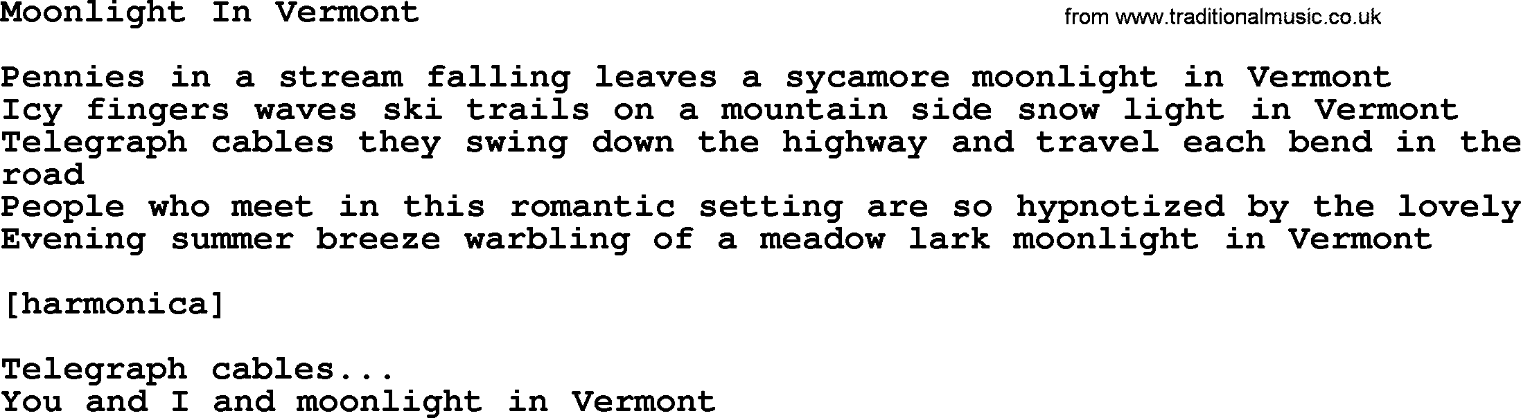 how to play moonlight in vermont on guitar
