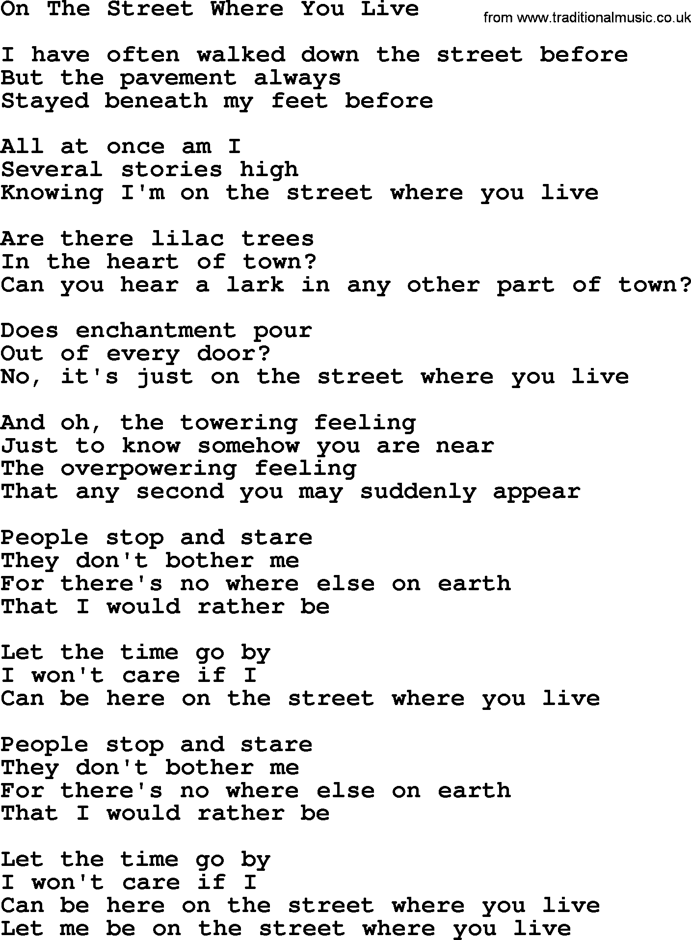 Willie nelson song on the street where you live lyrics willie nelson song on the street where you live lyrics hexwebz Gallery