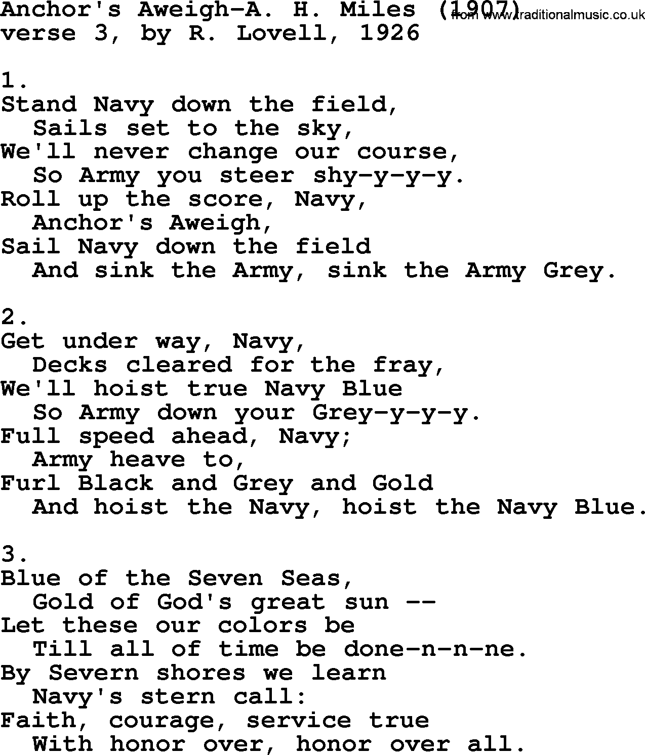 Anchors Aweigh lyrics by Independence Day - original song ...