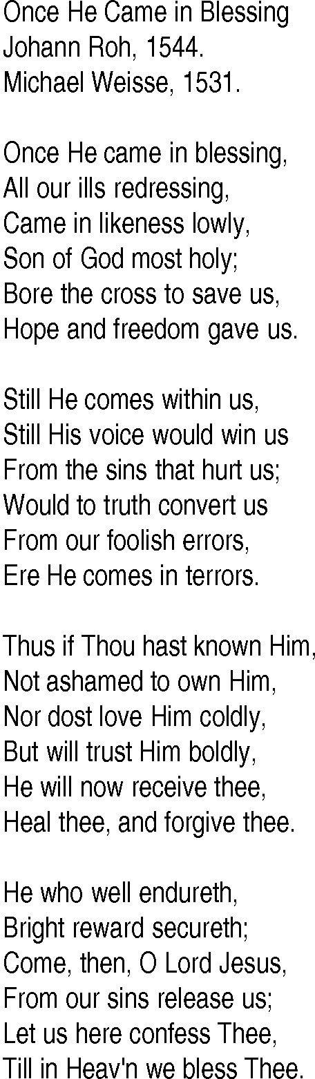 Lyric freedom lyrics gospel : Hymn and Gospel Song Lyrics for Once He Came in Blessing by Johann Roh