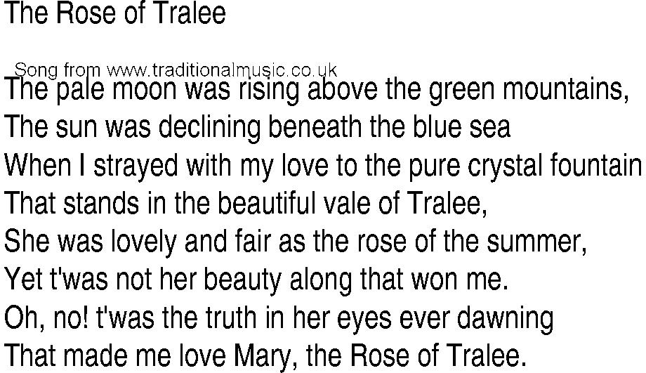 Lyric beautiful in white lyrics download : Irish Music, Song and Ballad Lyrics for: The Rose Of Tralee
