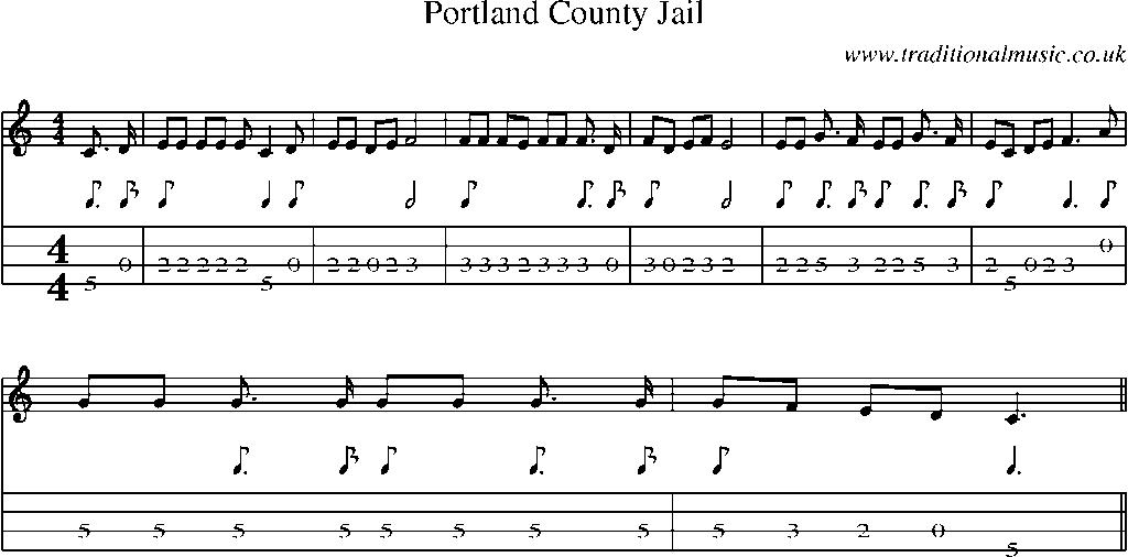 All Music Chords portland sheet music : Mandolin Tab and Sheet Music for song:Portland County Jail
