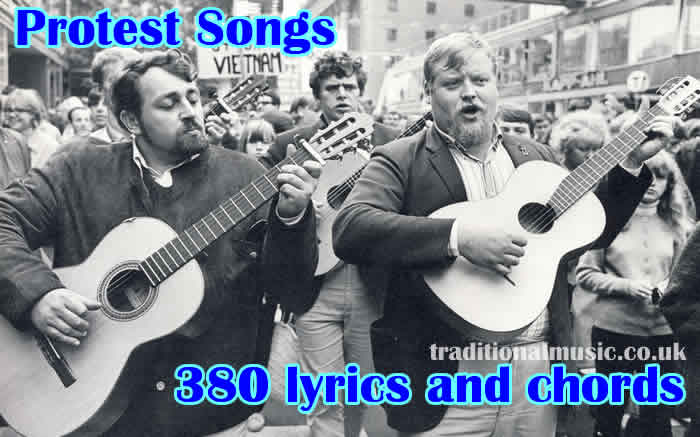 Banjo banjo chords popular songs : Protest Songs Collection with lyrics and chords for ukulele ...