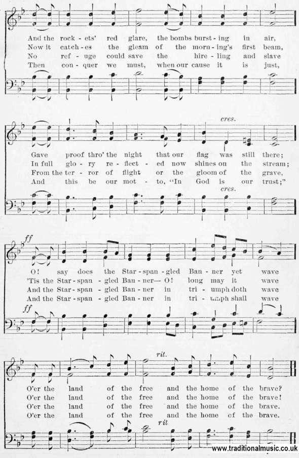 Lyric star banner lyrics : Riverside Song Book - sheetmusic and lyrics page 0115