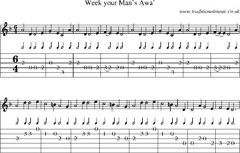 Guitar las mananitas guitar tabs : Sheet Music For Guitar Man - folk and traditional music sheet ...