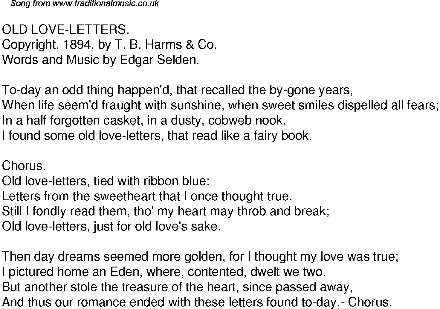 love letter song letters lyrics levelings 10011 | 45 old love letters