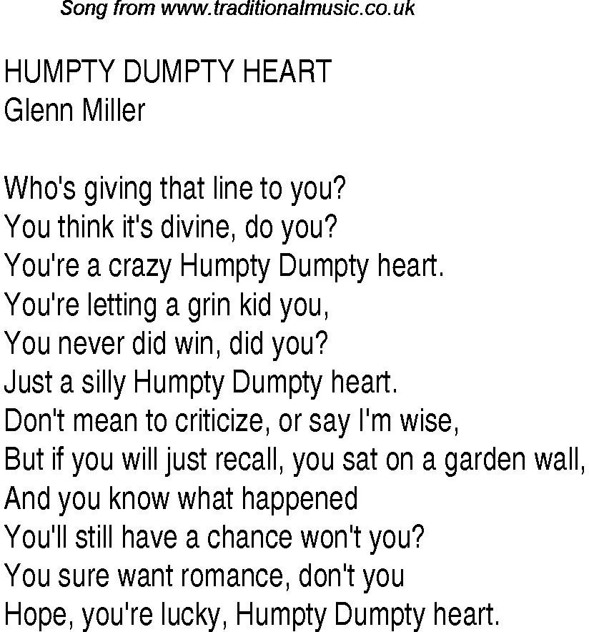 Humpty Dumpty Nursery Rhyme Lyrics images